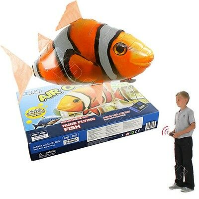 Air Swimmer Fish RC Inflatable Flying Clown Fish Blimp Balloon W/ Remote Control