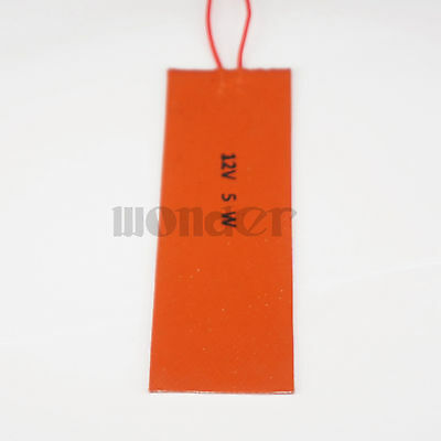 12V 50x150mm 5W Silicone Rubber Heater Pad For 3D Printer Oil Tank