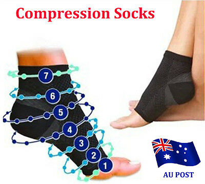 Compression Wear Foot Relieves Plantar Fasciitis Heel Pain Foot Sleeve Socks  ef