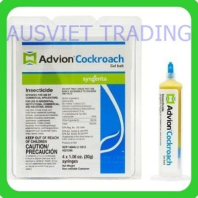 Advion Syngenta Dupont Cockroach Gel Killer Pest Control 1 Tube Made in USA