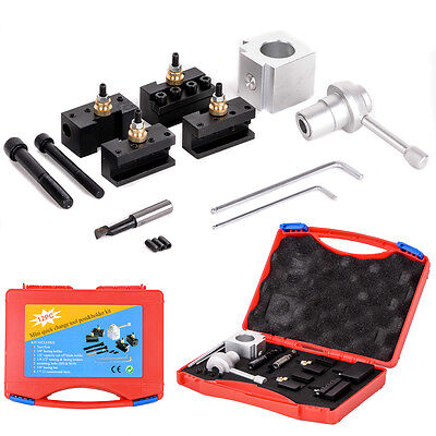 "Mini Quick Change Multifid Tool Post Holder & Bolts Kit for 7 x 10/12/14"" Lathe"
