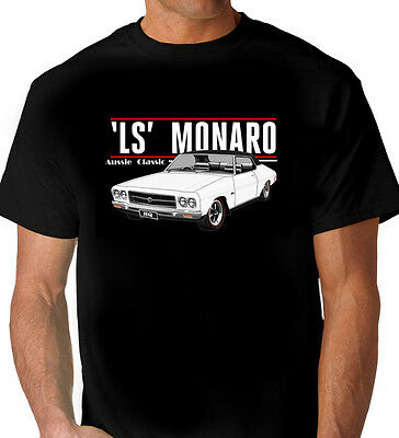 Hq  Holden  Ls Monaro Coupe  Black Tshirt   Men's Ladies Kids Sizes