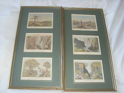 Journey to the Zambesi and Its Tributaries - Set Of 6 Antique Colour Lithographs