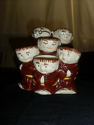 Friar Chucky Hand Painted Pottery Egg Holder