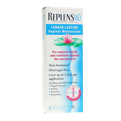 Replens MD Longer Lasting Vaginal Moisturiser - 3 x singles use applications