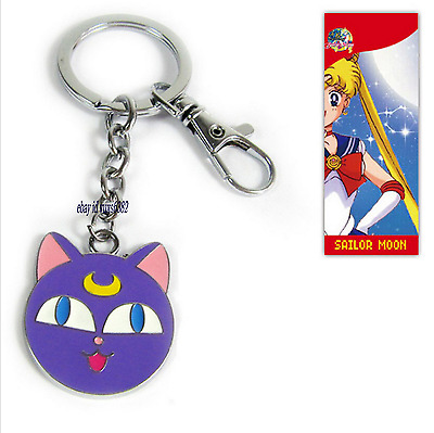 Japanese Anime Sailor Moon Purple Cat  Key Chain Keychain