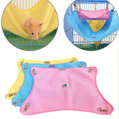 For Rat Hamster Ferret Parrot Mouse Comfort Cage Hanging Bed Toy UK Pet Hammock
