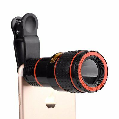 Clip-on 12x Optical Zoom HD Telescope Camera Lens Kit For Universal Mobile Phone