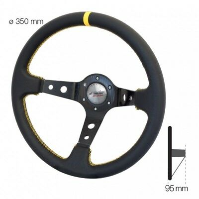VOLANTE a Calice SPECIALE Nero Eco Pelle SPEC 350 mm Simoni Racing