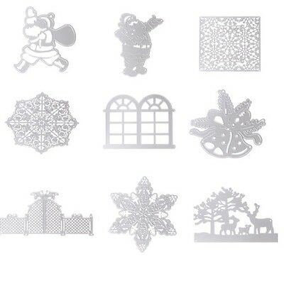 Xmas Metal  Cutting Dies Stencils Scrapbooking Album Embossing DIY Card Craft