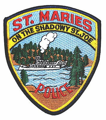 ST MARIES IDAHO ID  Police Patch STEAMBOAT ST JOE RIVER EVERGREEN TREES ~