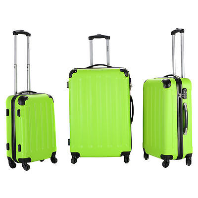 NEW 3 Pieces Set Hardside Luggage Travel Carry on Bag Trolley Spinner Suitcase