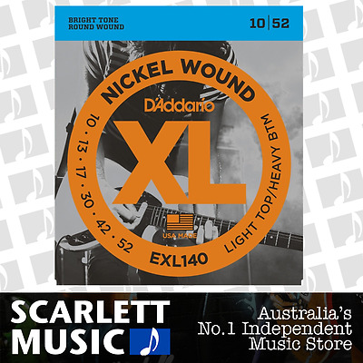 D'Addario EXL140 Light Top Heavy Bottom Electric Strings 10-52 Daddario EXL-140