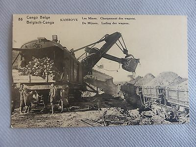 Cpa Congo Belge N°86 Kambove Les Mines Chargement Des Wagons Lubumbashi