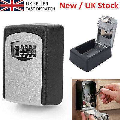 4Digit SECURITY WALL MOUNTED CAR KEY SAFE BOX CODE SECURE LOCK STORAGE UK SELLER