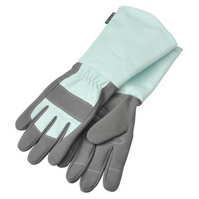 Duck Egg Blue & Grey Gauntlet Gardening Gloves