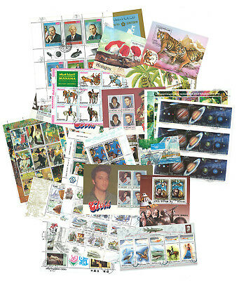Worldwide – 100 Different Souvenir Sheets [45512] + Free Gift