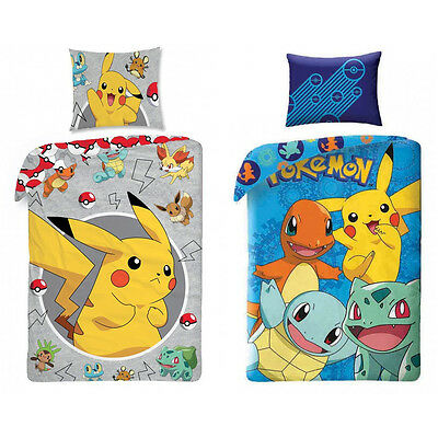 pokemon go pikachu kinderbettw sche kinder bettw sche. Black Bedroom Furniture Sets. Home Design Ideas