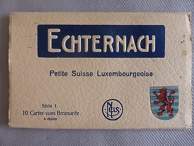Cpa 10 Cartes-Vues Echternach Petite Suisse Luxembourgeoise Serie 1 Bromurite