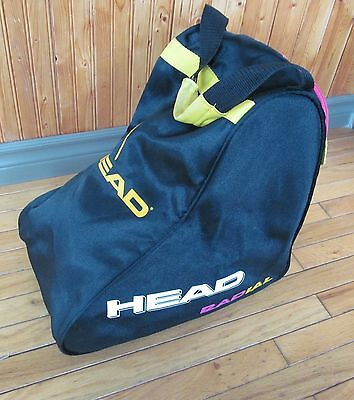 HEAD RADIAL ski boot bag - black Pink Yellow - Excellent condition