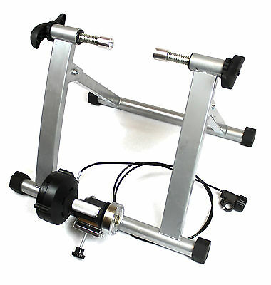 WHITE Ergolynx Cycle Fitness Turbo Trainer Bike Indoor Exercise Magnetic Force