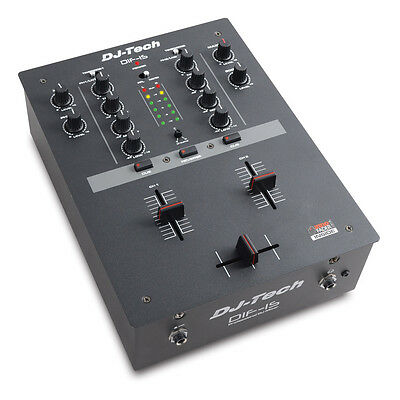 DJ-TECH DIF-1S 2-CH DJ scratch mixer with integrated mini innoFADER Brand New