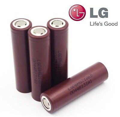 2 x Genuine LG HG2 INR 18650 LGDBHG21865 3000mAh 3.7V 20A / 30A Best for Vape