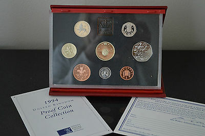 United Kingdom 1994 Royal Mint Proof Coin Collection 8 Coin Set COA #A