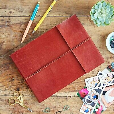 Fair Trade Handmade Medium Leather Photo Album Scrapbook 2nd Quality