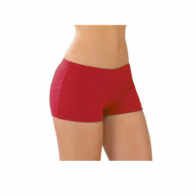 Body Wrappers 0607 Girl's Size 8-10 (Medium) Scarlet Hot Short Panty