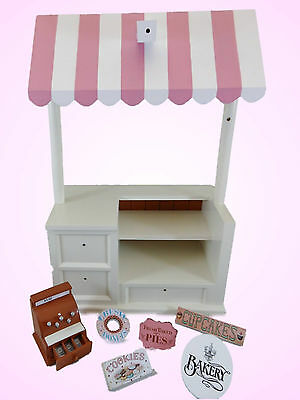 Queen's Treasures BAKERY SHOPPE Set Pastry Cart for American Girl Doll Shop*