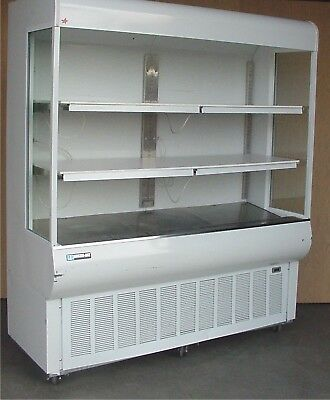 "Masterbilt 72"" Refrigerated Open Air Vertical Food Merchandiser Display Case"