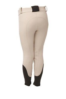 Horseware Kids Teens Girl Woven COMPETITION Technical BREECHES White/Beige 22-30