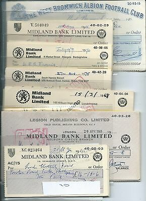 wbc. - CHEQUES - BULK1- USED - 600 cheques -  20 each of 30 diff. see 5 scans