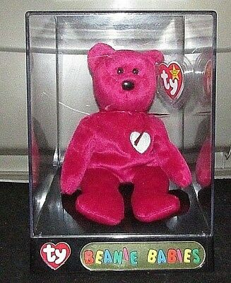 Rare Valentina Bear Retired Ty Beanie Baby Babies with Errors