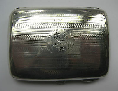 Antique Edwardian Solid Silver Small Cigarette Case by PH Bennet1909