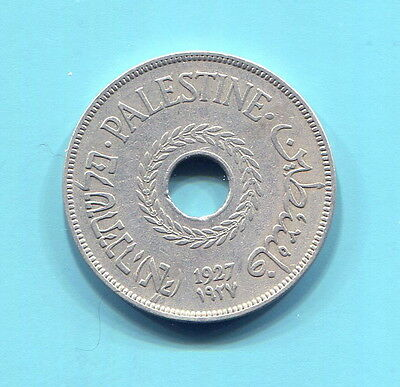 Palestine - Two Beautiful Historical Coins, 1927 20 Mils & 1942 1 Mil