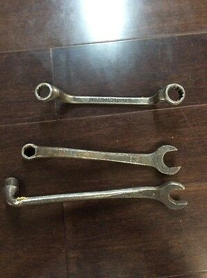 Lot Of 2 Antique Ford Wrenches And One Vintage Ford Wrench