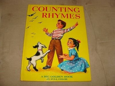 Counting Rhymes, A Big Golden Book in Full Color, 1947, Wonderful Illustrations