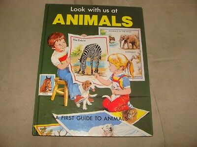 Look With Us at ANIMALS, 1983 HC, By Karen O'Callaghan, Brimax Book Series