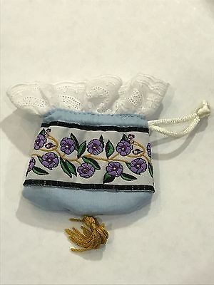 American Girl Doll Nellie Retired Meet Outfit Accessories Drawstring Bag Purse