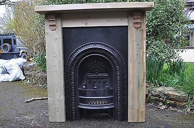 Original Victorian Cast Iron Fireplace & Hand Made Surround