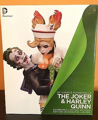 DC Collectibles Comics Bombshells The Joker & Harley Quinn Statue **Brand New**