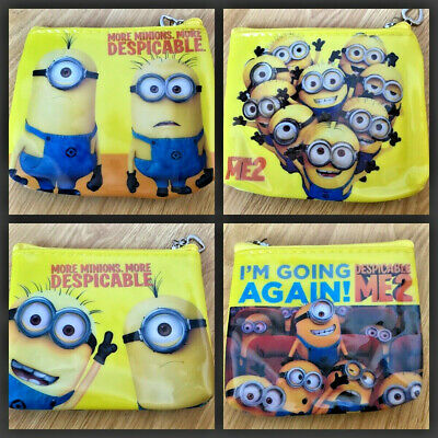 Minions Despicable Me Cartoon Kids Wallet Zip Coin Purse Free Post UK