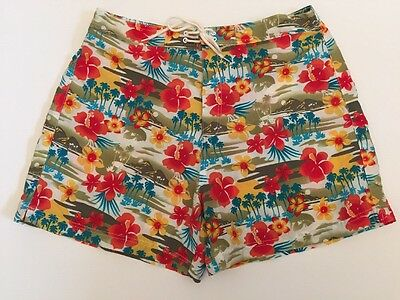 Mens Catalina Swim Short Shorts Trunks Floral Aloha Tropical print Size Large