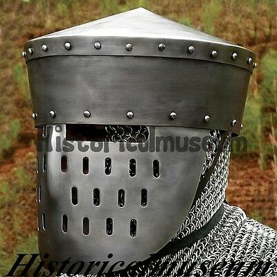 Kalota Helmet With Face Guard Medieval armors Crusader Helmets, Great Helms WSA5