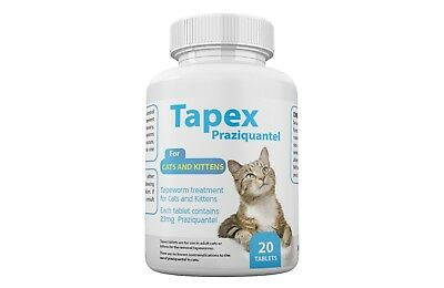 Tapex Dewormer 20 Tablets Tapeworm for  Cats similar to Droncit Tradewinds