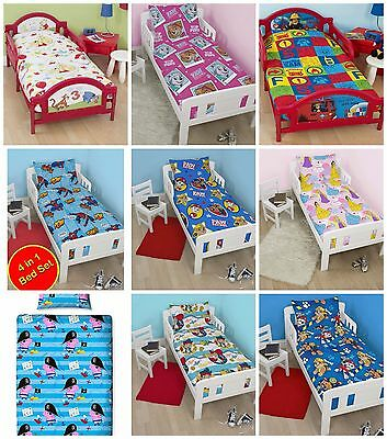 Junior Toddler Bed Character Bedding Bundles 4 In 1 Comforter + Pillow + Covers