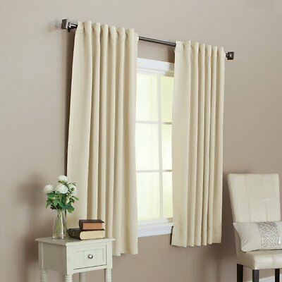 """ALEKO Home Decor 52""""x63"""" Beige Thermal Insulated Blackout Curtain Panel Set"""