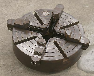"Cushman 15"" Independent 4-Jaw Chuck w/ L2 Long Taper Mount"